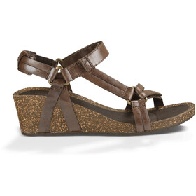 Teva Ysidro Universal Wedge Metallic Sandals Women Brown Metallic